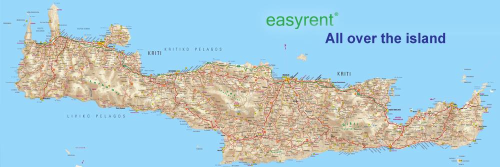 Mietwagen Kreta Heraklion Flughafen Chania Rethymnon